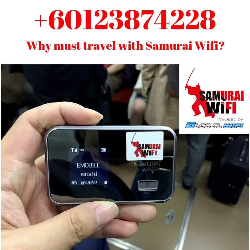 Why must travel with samurai wifi | 60123874228