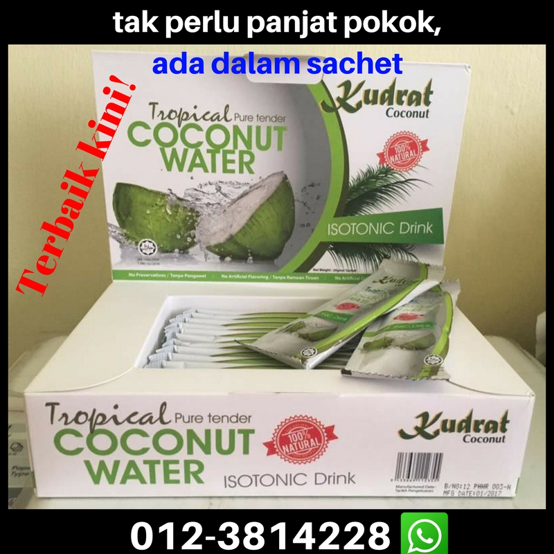 Kudrat first powdered coconut water in Malaysia